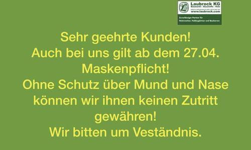 Schutzmasken aktuell bei uns verfügbar! (Stand 28.04.2020)